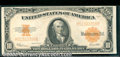 Large Size Gold Certificates:Large Size, 1922 $10 Gold Certificate, Fr-1173, VF-XF. Although the technic...