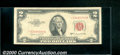 Small Size:Legal Tender Notes, 1953-B $2 Legal Tender Note, Fr-1511*, VF. A red seal star note...