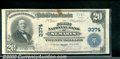 National Bank Notes:Kansas, First National Bank of St. Marys, KS, Charter #3374. 1902 $20 T...