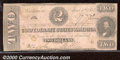 Confederate Notes:1863 Issues, 1863 $2 Judah P. Benjamin, T-61, VG. Cr-471. This well worn exa...