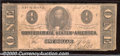 Confederate Notes:1863 Issues, 1863 $1 Clement C. Clay, T-62, Good-VG. Cr-478. Although this n...