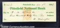 Miscellaneous:Checks, Drawn on the Pittsfield National Bank of Pittsfield, MA, this c...