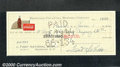 Miscellaneous:Checks, Dated June 1, 1944, this check was drawn on the Reidsville, Nor...