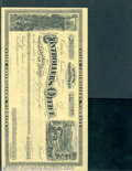 Miscellaneous:Checks, 1881 Warrant on the State Library Fund of the State of Nevada, ...