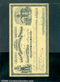 Miscellaneous:Checks, 1886 Warrant on the Orphan Home Fund, State of Nevada, AU. ...