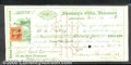 Miscellaneous:Checks, A warrant from the State of Wisconsin, 1865, CU. Payable to W.C...