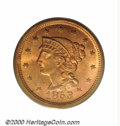 1853 1C MS 65 Red PCGS. The 1853, like most Coronet large cents, is a difficult issue to find with fully original surfac...