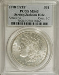 """1878 7/8TF $1 Strong MS65 PCGS. Ex: Jackson Hole. VAM-41. A Top 100 Variety. According to the Top 100 reference, """"T..."""