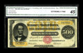 Large Size:Gold Certificates, Fr. 1216b $500 1882 Gold Certificate CGA Extremely Fine 45.Brightly colored and very nicely centered on both sides. The tot...