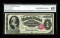 Large Size:Silver Certificates, Fr. 222 $1 1891 Silver Certificate CGA Gem Uncirculated 65. Fr. 222 is outnumbered by its type mate, Fr. 223, by more than t...