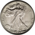 Walking Liberty Half Dollars: , 1923-S 50C MS64 PCGS. Bright luster radiates from both sides ofthis near-Gem, and untoned surfaces exhibit sharply incised...