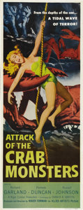 "Movie Posters:Science Fiction, Attack of the Crab Monsters (Allied Artists, 1957). Insert (14"" X36""). Considered to be one of Roger Corman's classics of l..."