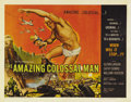 "Movie Posters:Science Fiction, The Amazing Colossal Man (AIP, 1957). Half Sheet (22"" X 28""). Yep, it was that old culprit, a nuclear bomb that made Lt. Col..."