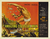 "The Amazing Colossal Man (AIP, 1957). Half Sheet (22"" X 28""). Yep, it was that old culprit, a nuclear bomb tha..."