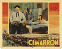 "Cimarron (RKO, 1931). Lobby Card (11"" X 14""). Richard Dix is a restless man of the West, and Irene Dunne his s..."