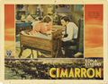 "Movie Posters:Western, Cimarron (RKO, 1931). Lobby Card (11"" X 14""). Richard Dix and Irene Dunne star as Yancey and Sabra Cravat, settlers hoping t..."