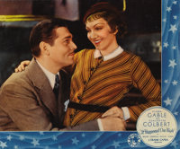 "It Happened One Night (Columbia, 1934). Jumbo Lobby Card (14"" X 17""). It swept the Oscars in the year of it's..."