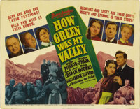 "How Green Was My Valley (20th Century Fox, 1941). Title Lobby Card (11"" X 14""). John Ford's tale of a coal-min..."