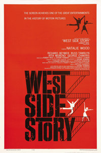 """West Side Story (United Artists, 1961). One Sheet (27"""" X 41""""). Robert Wise and Jerome Robbins, as a team, dire..."""