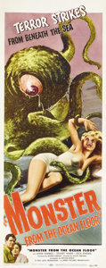 "Movie Posters:Science Fiction, Monster from the Ocean Floor (Lippert, 1954). Insert (14"" X 36"").""So, what did you do on your summer vacation?"" Well, in th..."