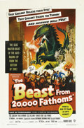 "Movie Posters:Science Fiction, The Beast from 20,000 Fathoms (Warner Brothers, 1953). One Sheet(27"" X 41""). This is one of the very rare posters from this..."