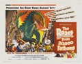 """Movie Posters:Science Fiction, The Beast from 20,000 Fathoms (Warner Brothers, 1953). Half Sheet (22"""" X 28""""). For once, a nuclear explosion doesn't make an..."""