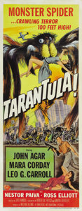 "Movie Posters:Science Fiction, Tarantula (Universal, 1955). Insert (14"" X 36""). Leo G. Carrollcreates a gigantic tarantula while conducting experiments in..."