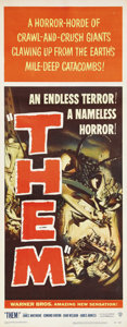 "Movie Posters:Science Fiction, Them! (Warner Brothers, 1954). Insert (14"" X 36""). When you thinkabout the ""classics"" of the 1950's sci-fi genre, a few sta..."