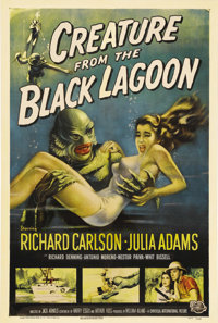 "Creature from the Black Lagoon (Universal International, 1954). One Sheet (27"" X 41""). By far, the greatest &q..."