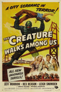 "Movie Posters:Science Fiction, The Creature Walks Among Us (Universal, 1956). One Sheet (27"" X41""). This is the final installment in Universal's ""Gill Man..."