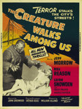 "Movie Posters:Science Fiction, The Creature Walks Among Us (Universal, 1956). Poster (30"" X 40"").This, the third and final installment in Universal's famo..."