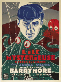 "The Mysterious Island (MGM, 1929). French Grande (47"" X 63""). Very little is retained of Jules Verne's origina..."