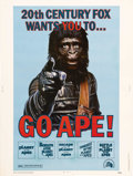 "Movie Posters:Science Fiction, Go Ape! (20th Century Fox, 1974). Poster (30"" X 40""). This posterwas designed to promote the 1974 re-issue of all of the ""P..."