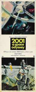 "Movie Posters:Science Fiction, 2001: A Space Odyssey (MGM, 1968). Insert (14"" X 36""). StanleyKubrick's landmark epic of the future was based on Arthur C. ..."