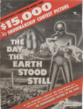 Movie Posters:Science Fiction, The Day the Earth Stood Still (20th Century Fox, 1951). Pressbook(24 Pages). Robert Wise's incredible venture into Science-...