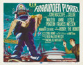 "Movie Posters:Science Fiction, Forbidden Planet (MGM, 1956). Title Lobby Card (11"" X 14""). Robbythe Robot starred in this full color spectacular from MGM ..."