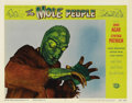 "Movie Posters:Science Fiction, The Mole People (Universal International, 1956). Lobby Card #3 (11""X 14""). By far, this is the best card in the set as it d..."