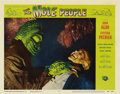 "Movie Posters:Science Fiction, The Mole People (Universal International, 1956). Lobby Card #5 (11""X 14""). One of the Mole People attacks a scientist in th..."