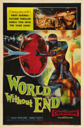 "Movie Posters:Science Fiction, World Without End (Allied Artists, 1956). One Sheet (27"" X 41""). This science fiction picture heavily borrowed from H.G. Wel..."