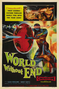 "World Without End (Allied Artists, 1956). One Sheet (27"" X 41""). This science fiction picture heavily borrowed..."