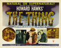 "Movie Posters:Science Fiction, The Thing From Another World (RKO, 1951). Half Sheet (22"" X 28"")Style A. Howard Hawks' early contribution to the science fi..."