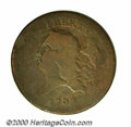 1793 1/2 C Good 4 Obverse Scratch. B-2, C-2, R.3. According to Breen, this is the second scarcest variety of the year. T...