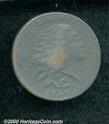 Large Cents: , 1793WREATH 1C VINE/BARS, BN