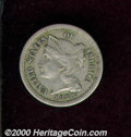 1883 3CN XF 40 Damaged. A somewhat pleasing example despite a series of small, thin scratches on the obverse. A scarce i...