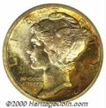 1916 10C MS 68 Full Bands PCGS. The Philadelphia Mint produced more than 40 million dimes in 1916, 22 million of which w...