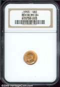 Commemorative Gold: , 1903 G$1 MCKIN