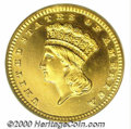 Proof Gold Dollars: , 1887 G$1