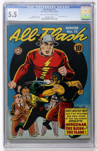 All-Flash #13 (DC, 1943) CGC FN- 5.5 Light tan to white pages