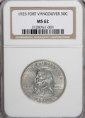 Commemorative Silver: , 1925 50C Vancouver MS62 NGC. NGC Census: (80/1826). PCGS Population(198/2536). Mintage: 14,994. Numismedia Wsl. Price for ...