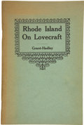 Books:First Editions, [H. P. Lovecraft]. Donald M. Grant and Thomas P. Hadley, editors.Rhode Island on Lovecraft....